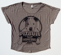 A Pitbull Is My Homedog Slouch Neck Shirt