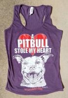 A Pitbull Stole My Heart Racerback Tank