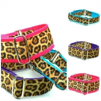 Fuzzy Little Leopard Dog Collar