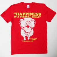 Happiness Is A Pitbull Smile Red Shirt