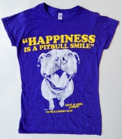 Happiness Is A Pitbull Smile Heather Purple Baby Doll
