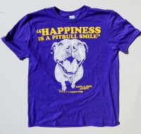 Happiness Is A Pitbull Smile Heather Purple Shirt