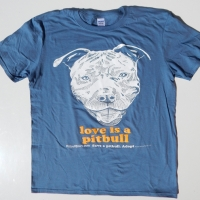 Love Is A Pitbull Indigo Blue Shirt
