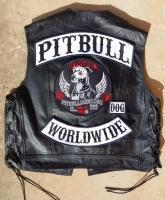 Official PITBULL BIKER WORLDWIDE Back Patch Set