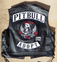 Official PITBULL BIKER ORIGINAL Back Patch Set