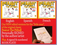 "Peanut The Pitbull -The ""Little Reader"" Edition! - Signed"