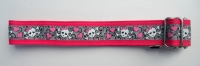 Pink Skull Chick Dog Collar