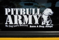 Pitbull Army Decal