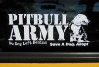 Pitbull Army Decal