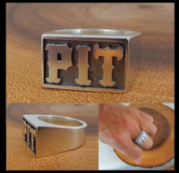 SILVER PIT Ring