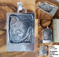 Silver SMILING PITBULL Pendant