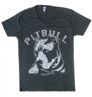 Vintage Pop Charcoal Grey V-Neck