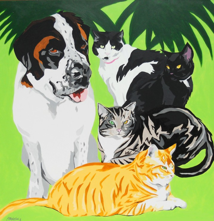 4_Kitties_and_a_Pup